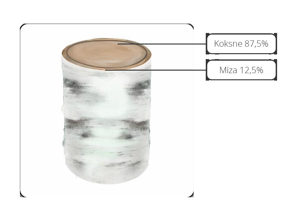 Bērza baļķa sastāvs - Suberbinder